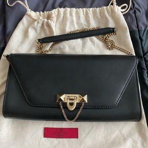 Valentino garavani Demi lune leather chain bag